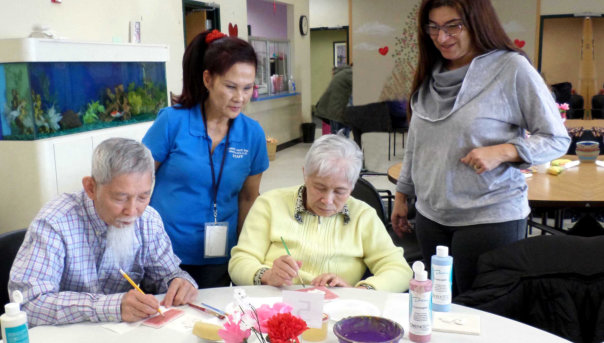 Elderly art activity